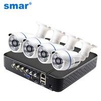 Smar CCTV 4CH 720 P/1080 P комплект камеры AHD P2P HDMI H. 264 DVR видеонаблюдения Системы Водонепроницаемый Открытый безопасности Камера комплект