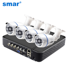 Smar CCTV 4CH 720 P/1080 P комплект камеры AHD P2P HDMI H. 264 DVR видеонаблюдения Системы Водонепроницаемый Открытый комплект камер видеонаблюдения