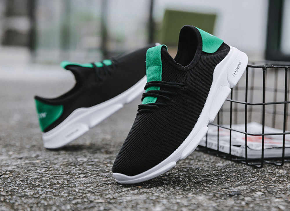 MUQGEW Men Casual รองเท้า PLUS ขนาดคุณภาพสูงรองเท้าผ้าใบกีฬารองเท้าตาข่าย Breathable แบน LACE-up รองเท้า