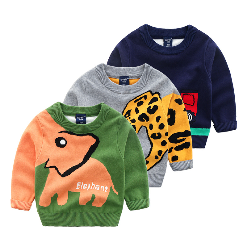 Pullovers Children Sweater Boy Sweter Animal Pattern Sweater for Boys Winter Knitwear Pullover Casual Warm Cotton Kids Cardigan линза для маски женская roxy isis bas lns orange page 2