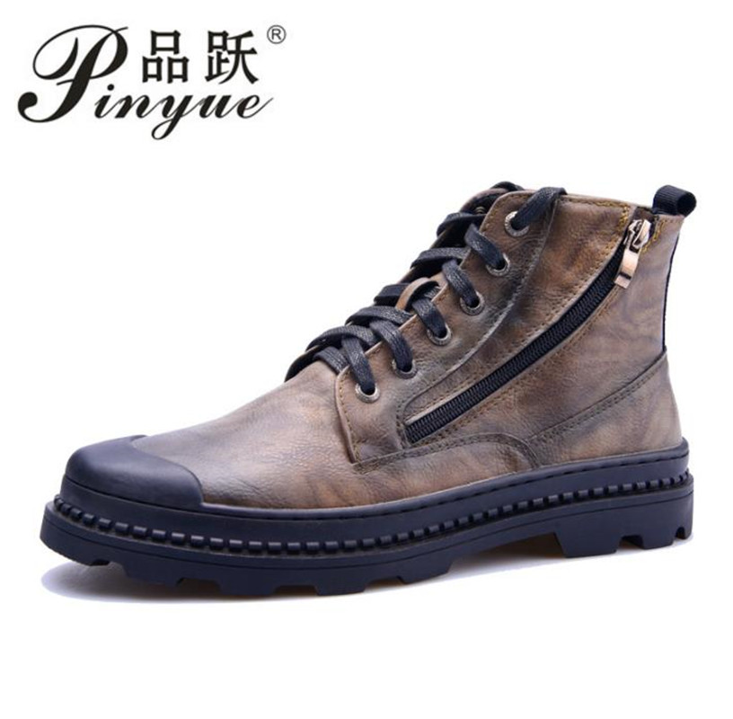 2018 Size 38-43 Men Boots Genuine Leather Winter Boots Shoes Men, Warm Furry Boots Men, Fashion Ankle Snow Boots For Men elevator shoes taller 2 56 inch winter genuine leather men boots fashion warm wool ankle boots men snow boots shoes hot sale
