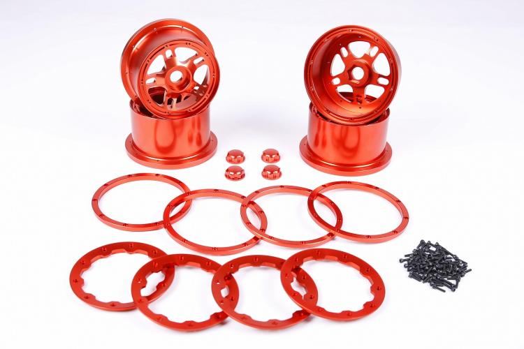 1/5 scale Baja 5B Alloy wheel hub with alloy beadlock for hpi km rv baja 1 5