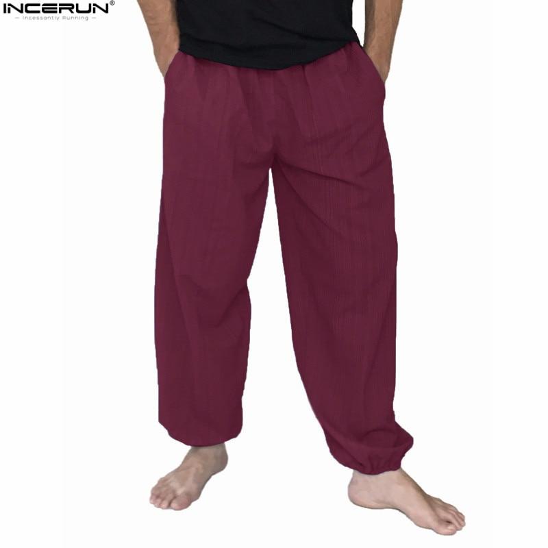 Plus Size 5XL Men's Cotton Loose Harem Pants Solid Casual Baggy Trousers Men Nepal/Indian Pants Men Wide Leg Hip Hop Pants New
