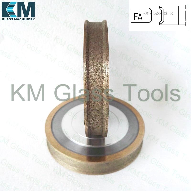 Free Shipping KM 100x22xFA3 4 5 6 8 10 12 15 19mm Peripheral Daimond wheel Flat