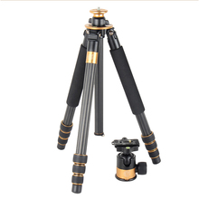 hot sale pro Q1000C professional carbon fiber tripod SLR photography ball head Wholesale fast shipping