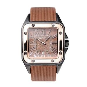 Image 5 - חדש כיכר נשים שעונים נשים רומי מספרי שעוני יד רוז זהב מקרה גומי סיליקון שמלת שעון גבירותיי קוורץ שעונים עבור גברת