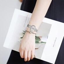 2019 das Mulheres do Relógio de Aço Inoxidável Mulheres Relógio de Quartzo Top Marca de Luxo Da Moda das Mulheres Relógio Relógio À Prova D' Água para montre femme