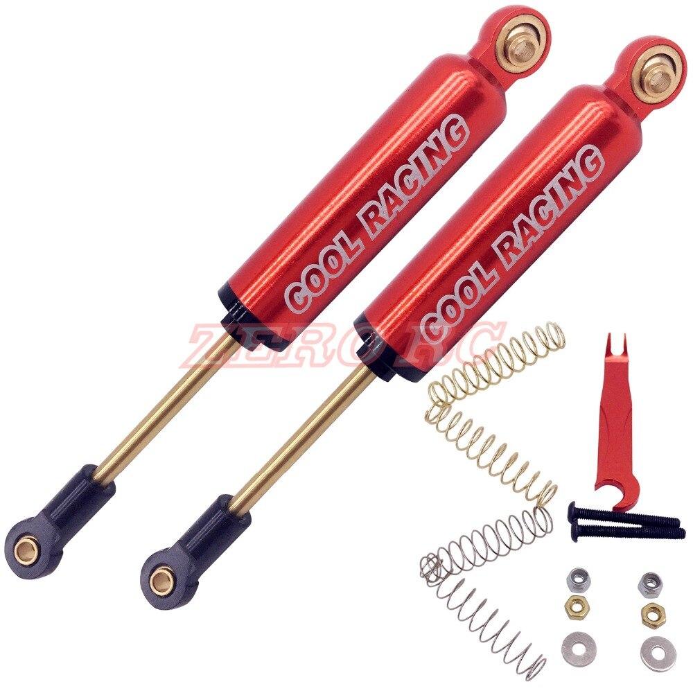 rouge 4PCS 90 mm Alumiunm Huile Suspension shocks amortisseur ressort interne Amortisseurs