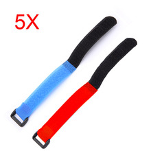 5pcs AKKU TREX 450 RC Helicopter Tie Down Strap for 11.1 3S 2200 Battery