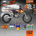 Custom Team Graphics Backgrounds Customize Decals 3M Stickers Kit Classic RB Style For KTM SX F EXC XCF XC XCW EXCF MX ENDURO