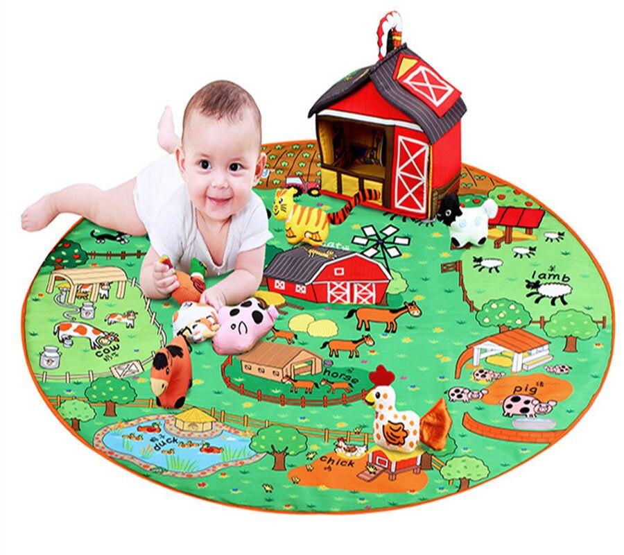 Bébé bambin jouets tapis de jeu hochets jouet multifonction Animal ferme jouer tapis tapis enfants éducatif infantile tapis cadeau pour enfant