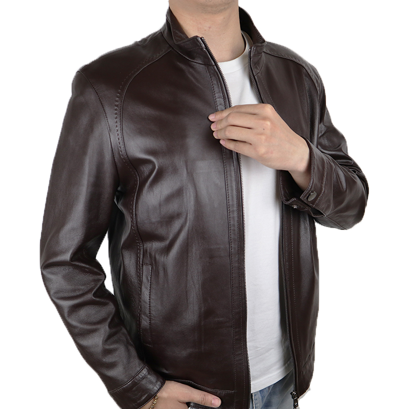 2019 Men's Genuine Leather Jacket Casual And Motorcycle Leather Jacket