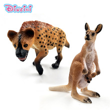 Simulation Cute Kangaroo Wild Dog Artificial animal model Action figure plastic Decoration educational toy figurine Gift For Kid simulation dog poodle toy model prone pose 40x15x21cm plastic