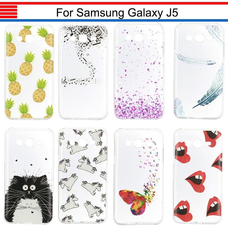 Galleria fotografica JURCHEN Phone Case For Samsung Galaxy J5 2015 J500 J500F J500FN J5008 Cartoon Cute Soft Case For Samsung Galaxy J5 Case Silicon