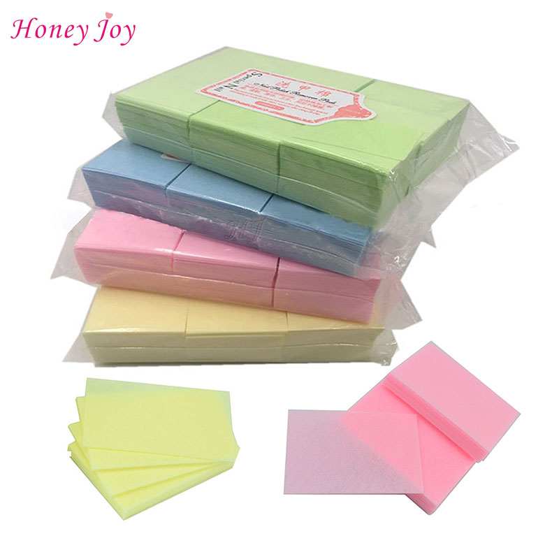 111gram/bag Solid Durable Lint-Free Wipes 100% Cotton Nail Tools Bath Manicure Gel Nail Polish Remover Yellow Green Blue orly спонжи салфетки безворсовые gel fx lint free wipes 240шт