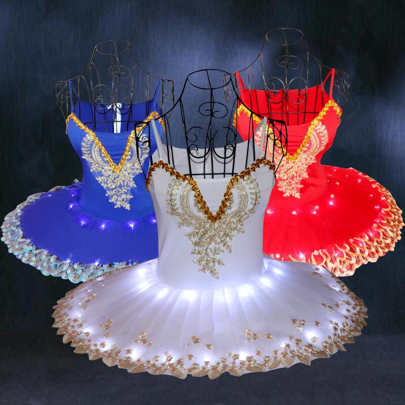 Professional Ballet Performance Costumes Wear Female Swan Lake Luminescent Dance Clothes Led Light Performance Dancing H501 in Ballet from Novelty Special Use