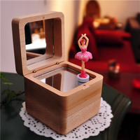 Ballet Dancer Wood Music Box Castle In The Sky Happy Birthday Musical Boxes Mechanism Gifts For Girlfriend Baby Christmas Gift