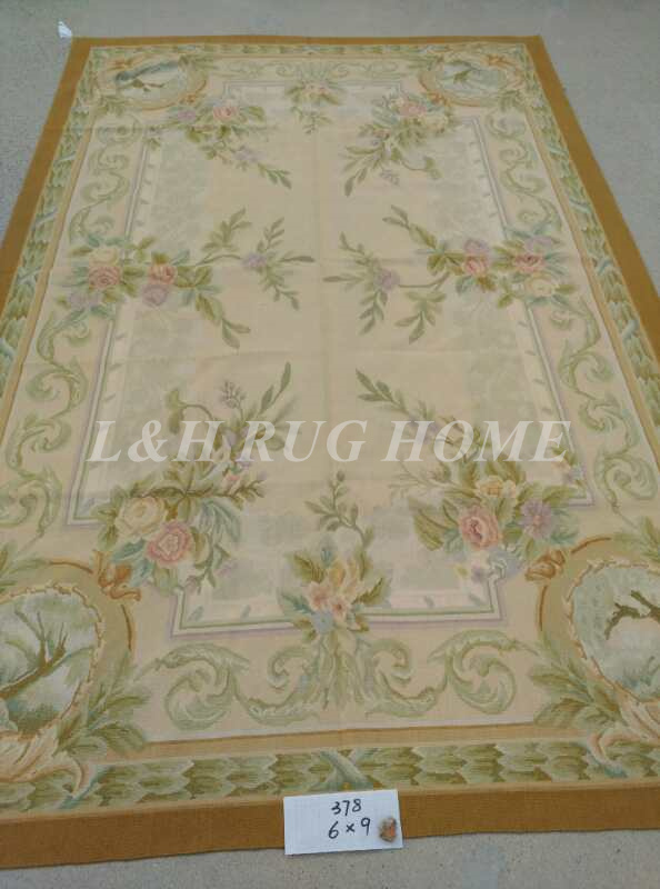 Free Shipping 6'X9' French Aubusson Rug, 100% hand woven New Zealand woolen rug