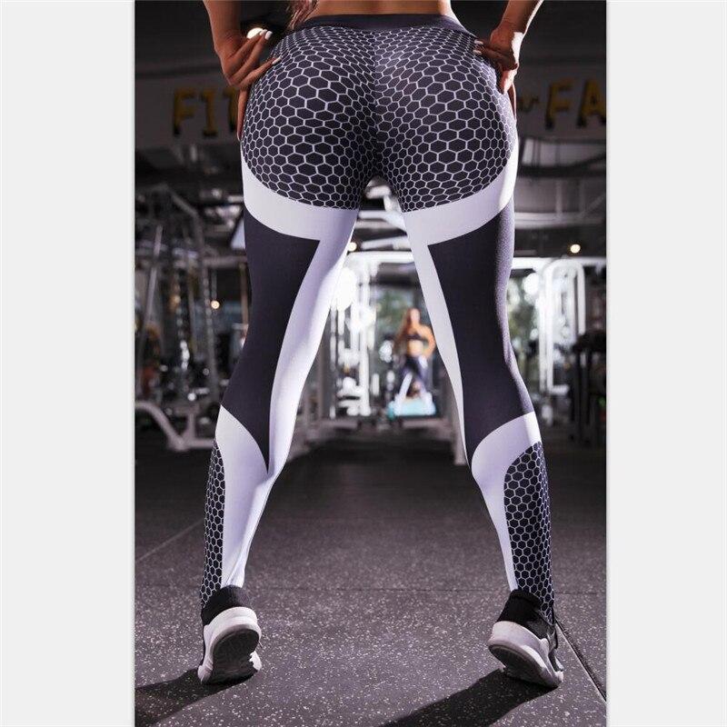 11.11 Mesh Pattern Print Leggings Fitness Push Up Leggings Women Sporting Workout Leggins Elastic Slim High Waist Women Sexy Pan