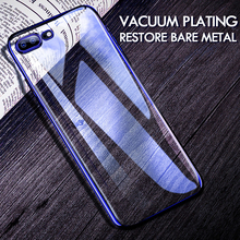 H&A Ultra-Thin TPU Plating Phone Case For iPhone 7 8 6 6s Plus Soft Transparent Shockproof Cover For iPhone 8 6 7 Plus Cases