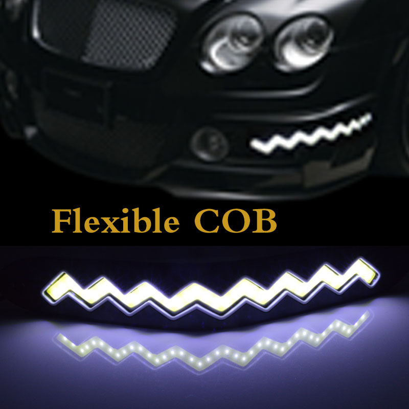 2pcs/Lot Square 26cm Bendable led Daytime Running light 100% Waterproof COB Day time Lights flexible LED Car DRL Driving lamp 2pcs square 21cm bendable led daytime running light 100