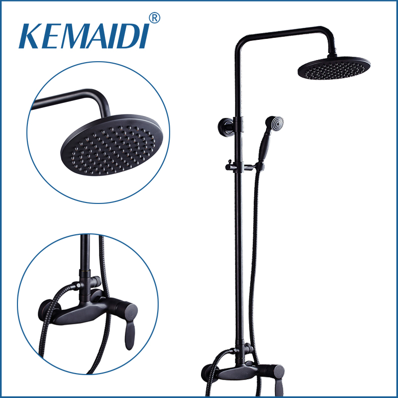 KEMAIDI Shower Faucets Bathroom Rainfall Shower Set Oil Rubbed Bronze Mixer Tap With Hand Sprayer Wall Mounted Bath shower Sets