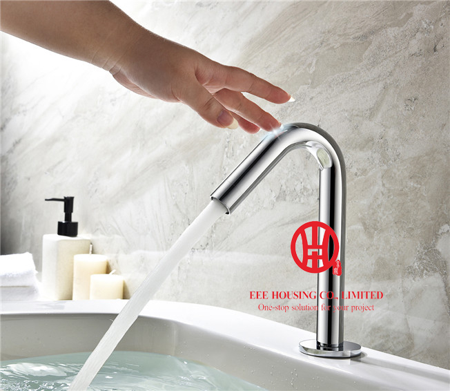 Free Shipping Brass Time Delay Touch Intelligent Tap,bathroom Faucet,chrome Finished,bathroom Accessories