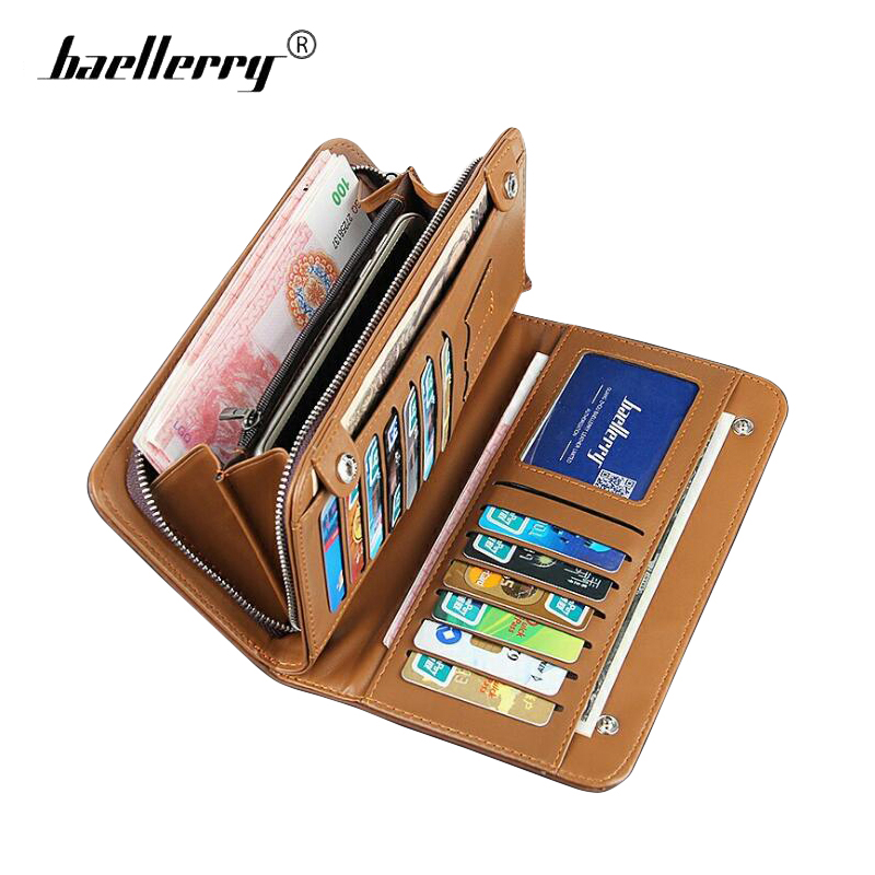 f97bea140cb Baellery Durable Hard Men Wallet Clutch TOP Leather Male Zipper Clasp Purse  Brand Mens Wallets Phone Money Bag Card Holder Black-in Wallets from  Luggage ...