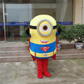 1pcs high quality Despicable me Cos Superman Steven frame EVA with Plush Mascot Costume with cloak in box via EMS.2 kinds select