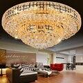 Светодиодный светильник  современный золотой кристалл  потолочные светильники  светильник  золотой круглый  для спальни  столовой  гостино...