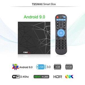 Image 2 - TV Box T95 Max, Android 9,0, 4GB, 32GB, 4GB, 64GB, Allwinner H6, 2,4 GHz, Wifi, compatible con reproductor de Google, Youtube, dispositivo de TV inteligente, PK X96mini, TX6