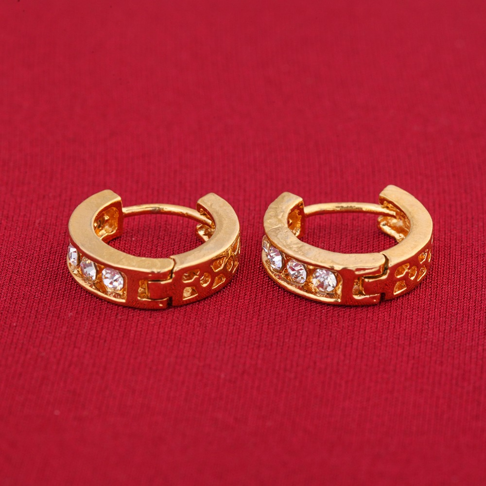 Women Lady Elegant Ear 24k Gold Stud Earrings Heart Gift New Design Jewelry In From Accessories On Aliexpress Alibaba Group