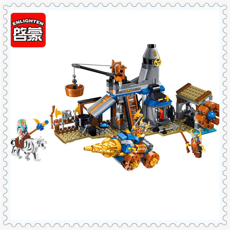 ENLIGHTEN 2314 War Of Glory Castle Knights Shop Model Building Block 368Pcs Educational  Toys For Children Compatible Legoe 0367 sluban 678pcs city series international airport model building blocks enlighten figure toys for children compatible legoe