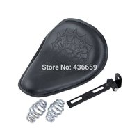 Motorcycle Leatheroid Spring Solo Seat For Harley Touring Softail VRSC Dyna Sportster