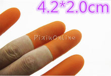 5pcs 4.2*2.0cm YL331 Non-slip Finger Cots Carved Jade Polished Amber DIY Tools Necessary Protect Fingers Gloves Hand Tool Parts(China)