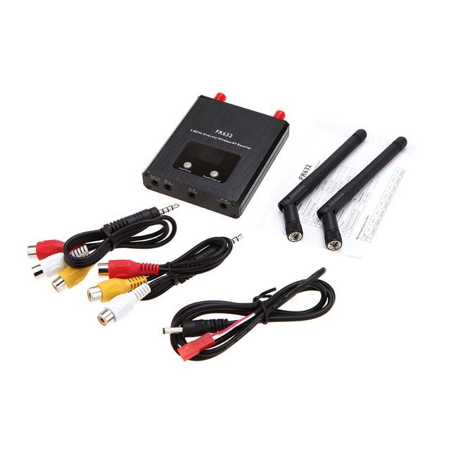 US $43 99 |FR632 5 8G 32Ch channels FPV Diversity Receiver Auto Scan  digital LCD display A/V Receiver double antenna for 5 8G Transmitter-in  Parts &