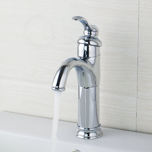 Tall Spout Brass Bathroom Sink Vessel Faucet Basin Mixer Tap,Chrome Finished 8442 Sink Grifos Cocina Faucets,Mixers &Taps lavatory basin faucets waterfall spout single handle bathroom sink vessel faucet mixer tap tall body solid brass chrome finished