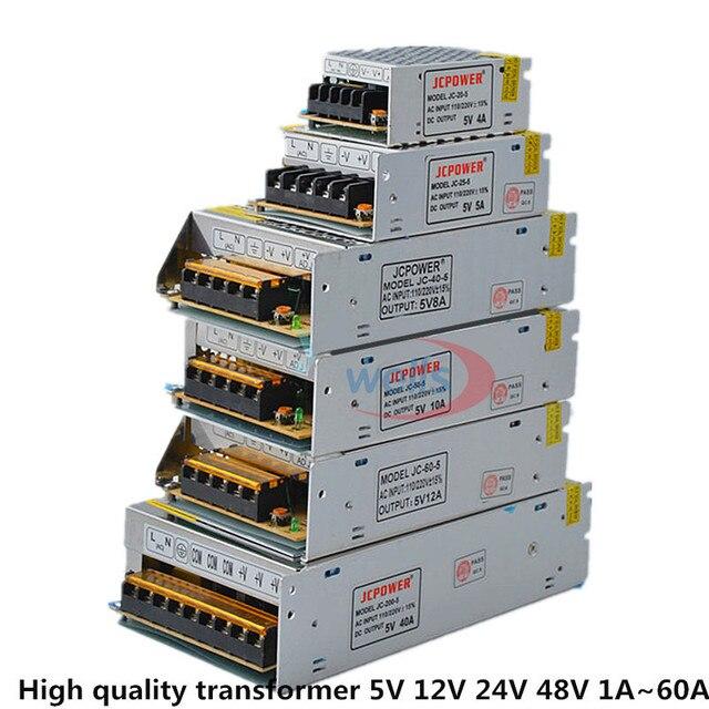 תאורת LED החלפת הספק הכוח AC 110 V-220 V מתאם מתח 5 V 12 V 24 V 48 V לאורות רצועה מעקב וידאו 1 מגבר-60 Amp