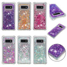 For Samsung Galaxy S10 case Plus Back cover Bling Dynamic Quicksand Liquid Case for Lite S10E