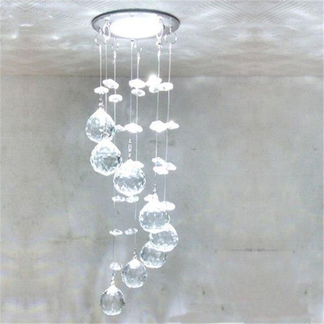 Lampadario Gocce Cristallo Moderni.Moderno Lampadario Di Cristallo A Soffitto Lampade A Sospensione A