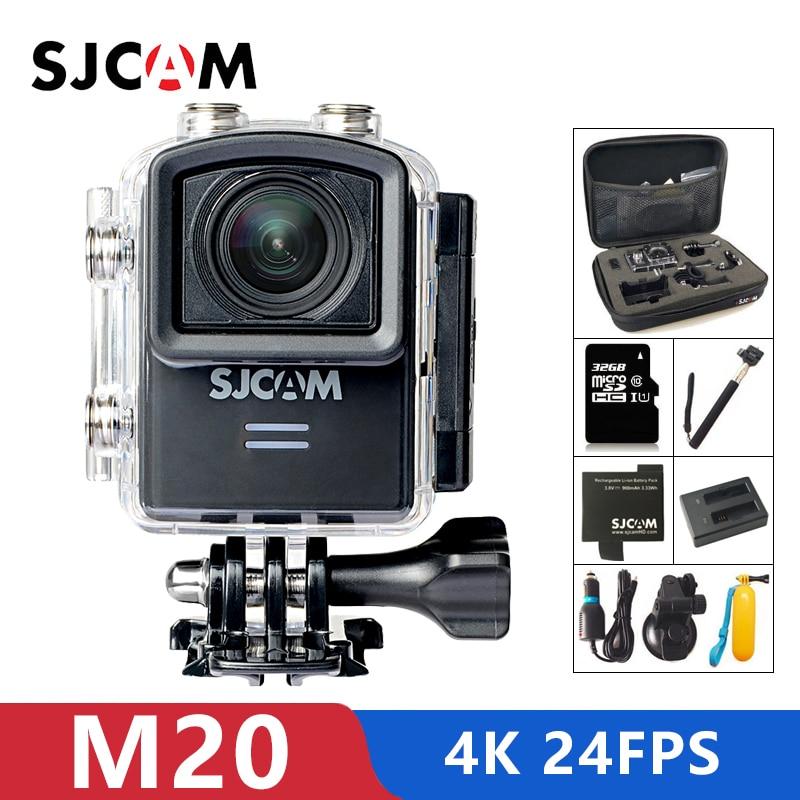 Original M20 Esporte Action Camera 4 K Wifi SJCAM SJ Cam Subaquática 16MP Gyro Mini Filmadora HD 2160 P Com formato BRUTO À Prova D' Água DV