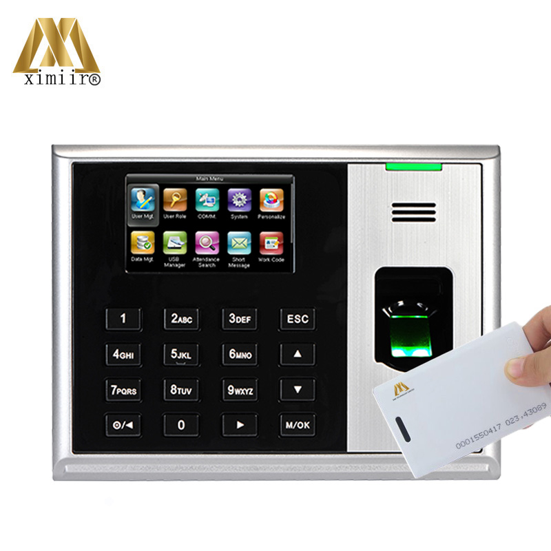 TCP/IP USB Fingerprint Time And Attendance Systems 3 Inch Color Screen With RFID Card Reader ZK Hot Device S30 Time Attendance