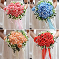 2016 Flower Bride Bouquet De Mariage Artificial Wedding Bouquets For Brides Accessories Handmade Rose Bouquets Ramos De Novia