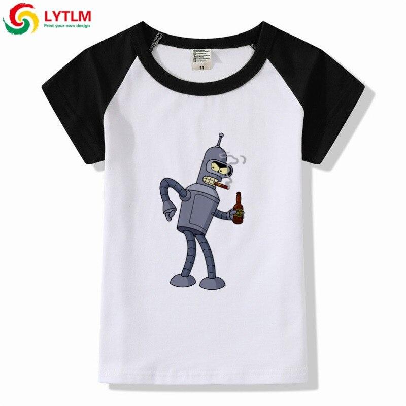 New Arrival 2019 Boys T-shirts Kids Short Sleeve Tees Tops Shirt Drum Printing Boy Children T Shirt Cotton Girls Kids Clothes T-shirts