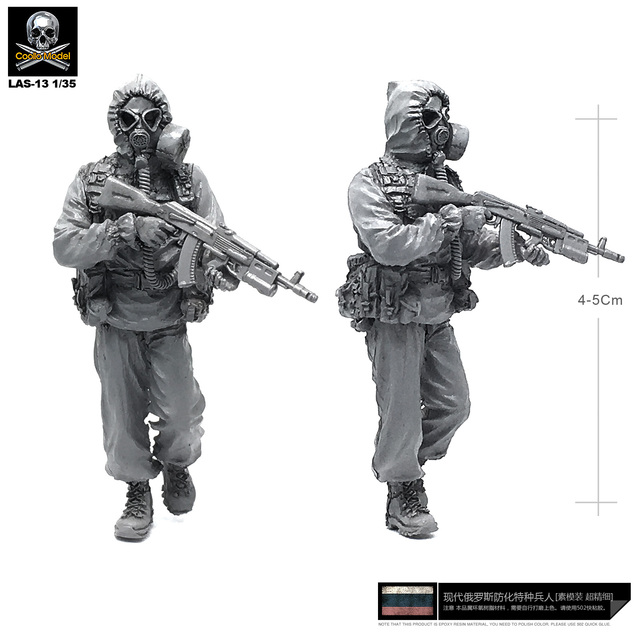 1/35 Resin Kits Russian Biochemical Force 1 Drag Resin Soldier Unmounted Las-13