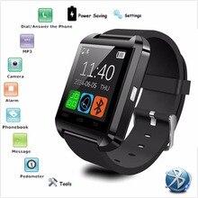 Marca Bluetooth Elegante Reloj Android Smartwatch Podómetro De Muñeca A Prueba de agua Teléfono de Pantalla Táctil