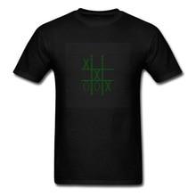 Gamer T-shirt Men Geek Tshirt Black 8 Bit Pixel Tic Tac Toe Print Tee Shirts Cotton Clothes Computer Game Design Mens Streetwear цена