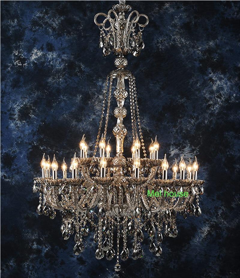 retro verlichting kroonluchters lamp Rook grijs kristallen - Binnenverlichting - Foto 5