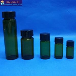 Image 4 - 5 ml 50 pz/lotto marrone flaconcino di vetro con tappo a vite Chiaro Liquido Campionamento Bottiglie Fiale di Vetro Del Campione di trasporto libero