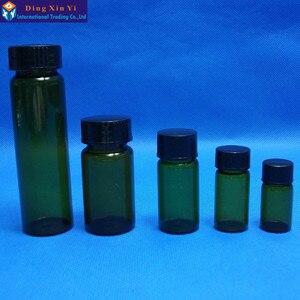 Image 4 - 5 ml 50 개/몫 스크류 캡 투명 액체 샘플링 샘플 유리 병 튜브와 갈색 유리 병 무료 배송